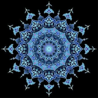 Arabski okrąg kwiatowy islamski tło wektor