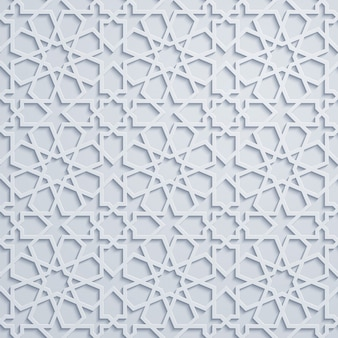 Arabski ornament geometryczny wzór maroko