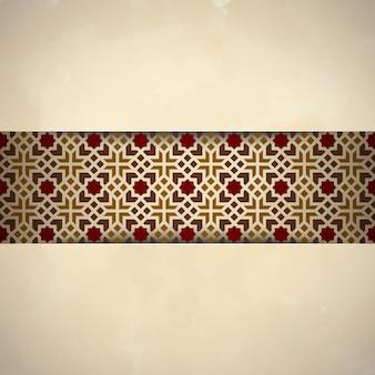 Arabski ornament islamski wzór tła
