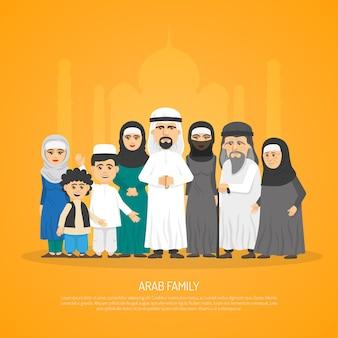 Arabski plakat rodzinny