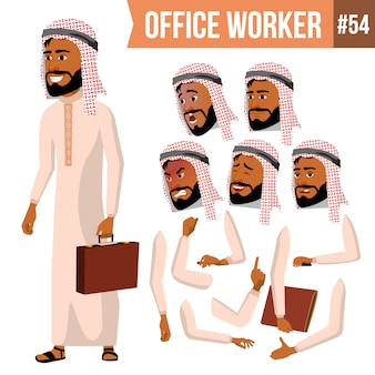 Arabski pracownik biurowy