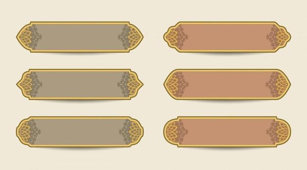 Arabski szablon transparent z kątami wzorca