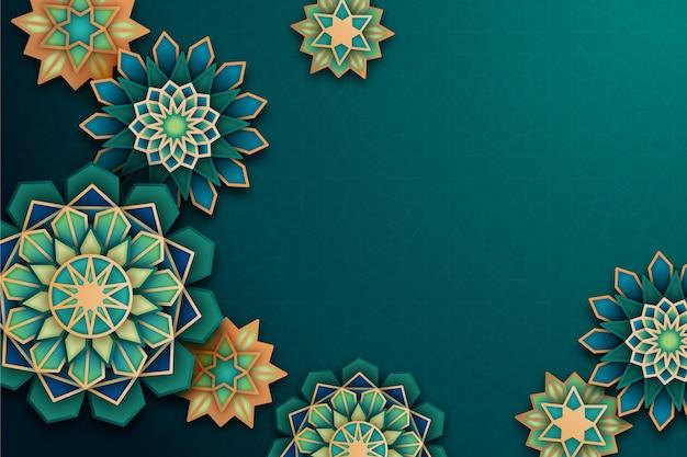 Arabski tło ozdobne w stylu papieru