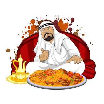 Arabski tradycyjny sposób jedzenia