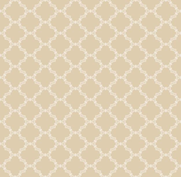 Arabski turecki wektor bezszwowa tekstura islamska konstrukcja siatki okiennej z latarniowymi kształtami płytek