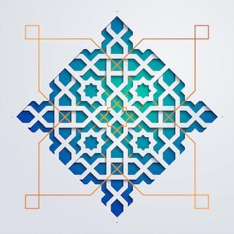 Arabski wzór geometryczny - ornament maroka