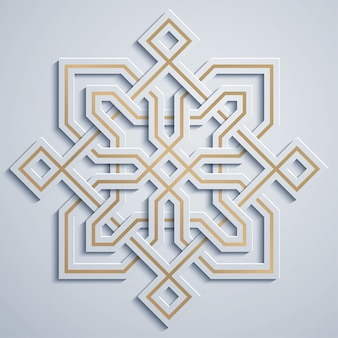Arabski wzór geometryczny ornament maroko