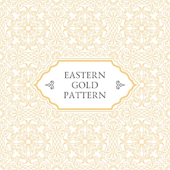 Arabski wzór wschodniej złotej ramy
