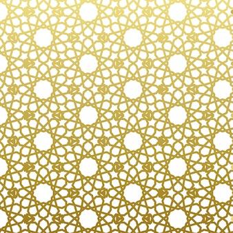 Arabski wzór złoty styl. tradycyjny arabski wschód geometryczne tło dekoracyjne.