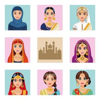 Arabskie panny młode osiem znaków