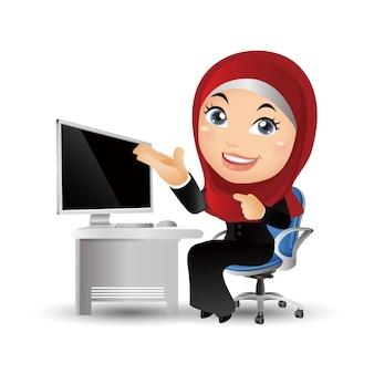 Arabskie postacie ludzi biznesu w różnych pozach