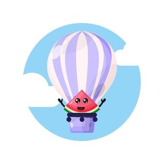 Arbuz maskotka balon na gorące powietrze