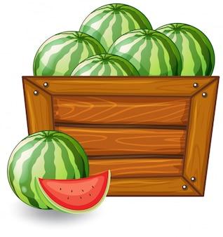 Arbuz na drewniane transparent