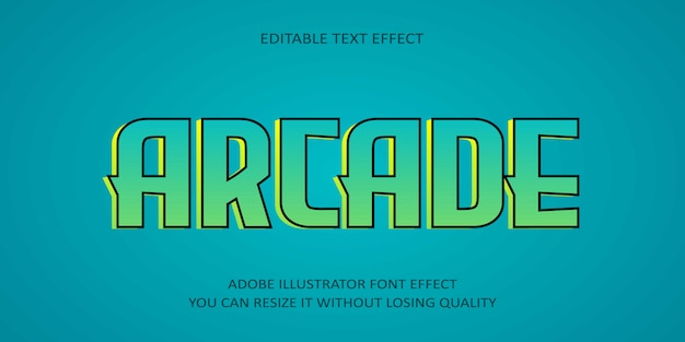 Arcade edytowalny tekst efekt