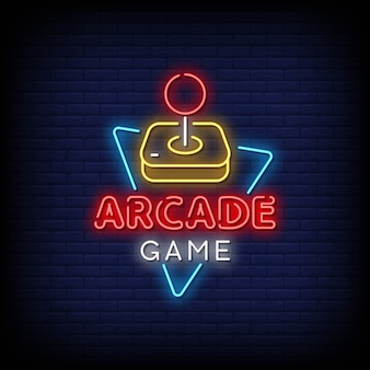Arcade game neon signs