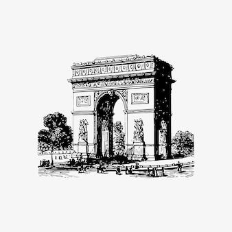 Arch of triumph w paryżu