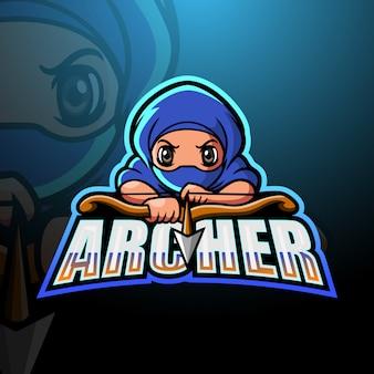 Archer maskotka esport ilustracja