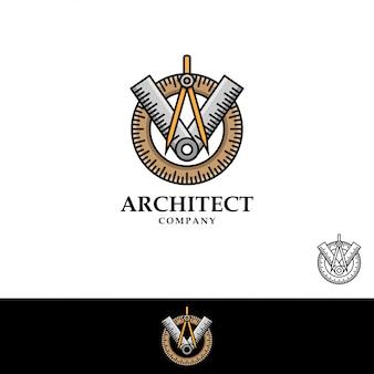 Architekt logo ilustracji wektorowych