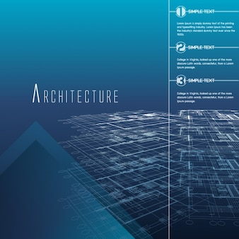 Architektura infografika szablon
