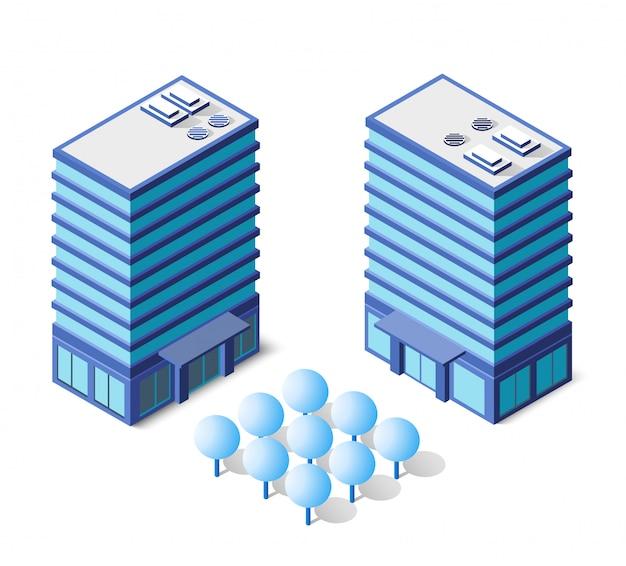 Architektura na niebiesko