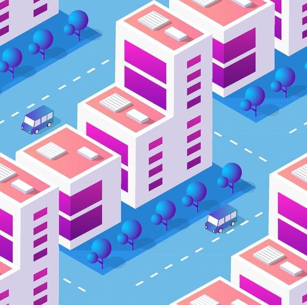 Architektury ilustracyjny miasto dla bezszwowego powtarzać