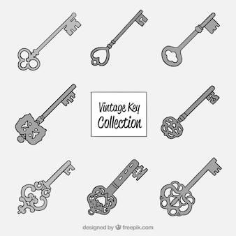 Archiwalna kolekcja kluczy