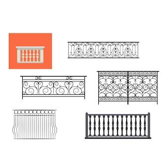 Archiwalne balustrada balkonowa