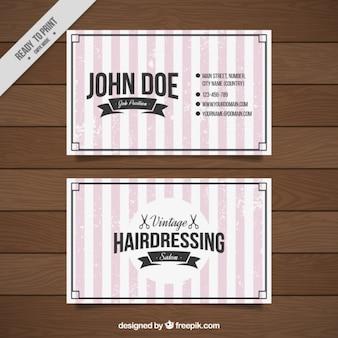 Archiwalne karty fryzjerskie