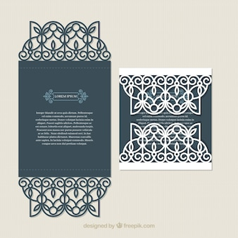 Archiwalne karty z eleganckiej dekoracji
