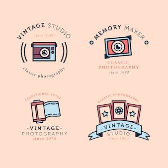 Archiwalne kolekcja logo aparatu fotograficznego