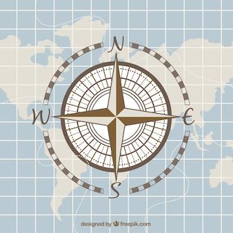 Archiwalne mapy tła kompas