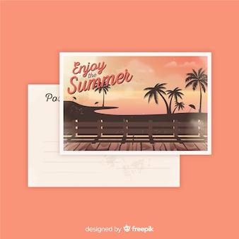 Archiwalne pocztówki letnie wakacje
