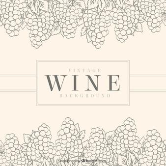 Archiwalne tła z ozdobnymi kiści winogron