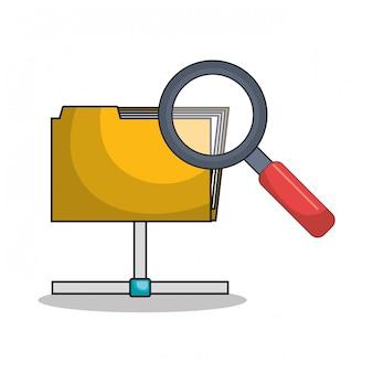 Archiwum plików folderu ikona izolowane