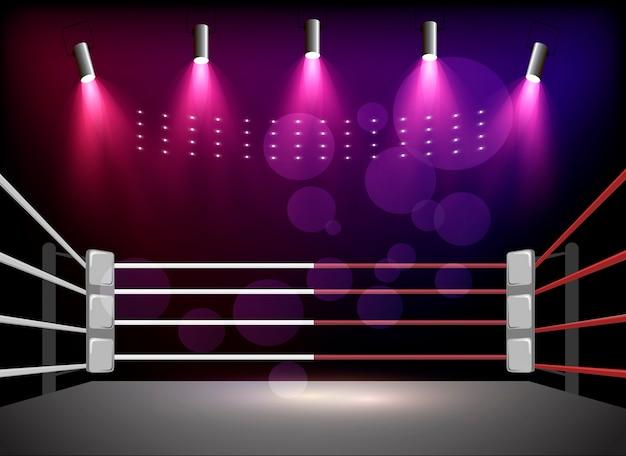 Arena bokserska i reflektory