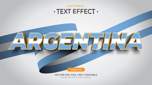 Argentyna edytowalne efekty tekstowe