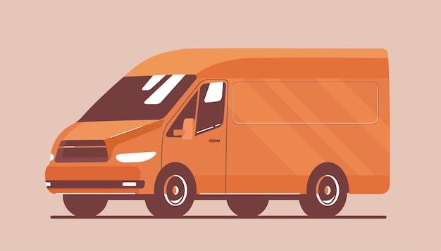 Argo van na białym tle. ilustracja wektorowa płaski.