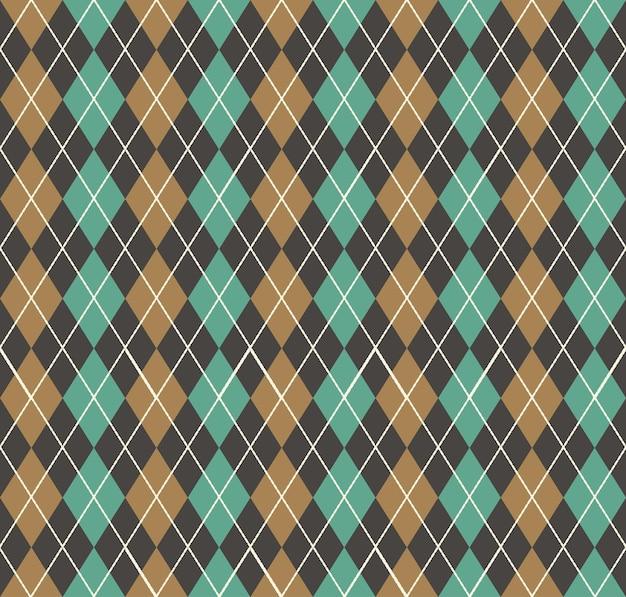 Argyle wzór. geometryczne proste tło. kreatywna i elegancka ilustracja stylu