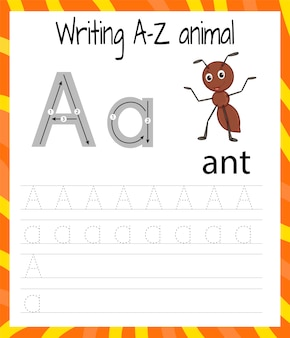 Arkusz ćwiczeń pisma ręcznego a