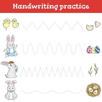 Arkusz ćwiczeń pisma ręcznego gra edukacyjna dla dzieci przywróć linię przerywaną arkusz ćwiczeń pisma ręcznego pisania arkuszy szkoleniowych do druku