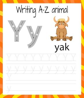 Arkusz ćwiczeń pisma ręcznego y