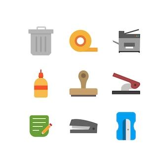Arkusz ikon biurowych na białym tle