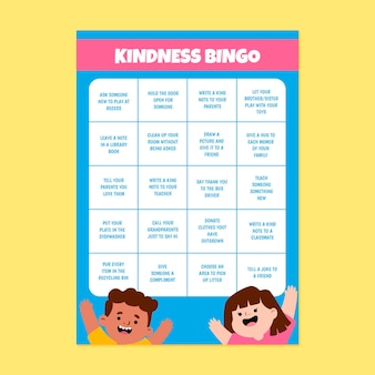 Arkusz karty bingo życzliwości