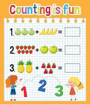 Arkusz liczb matematycznych