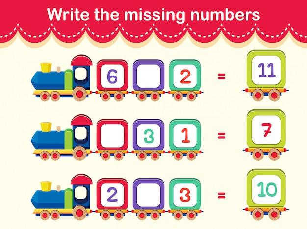 Arkusz liczbowy z matematyki