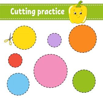 Arkusz praktyki cięcia dla dzieci