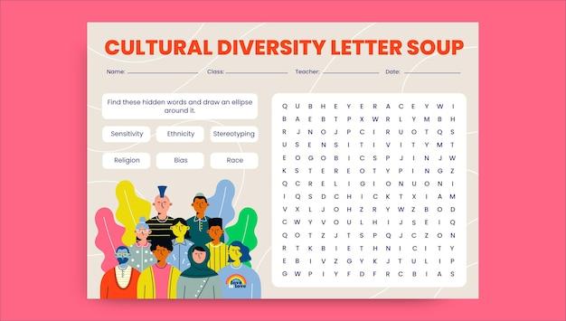 Arkusz roboczy kreatywnej różnorodności kulturowej