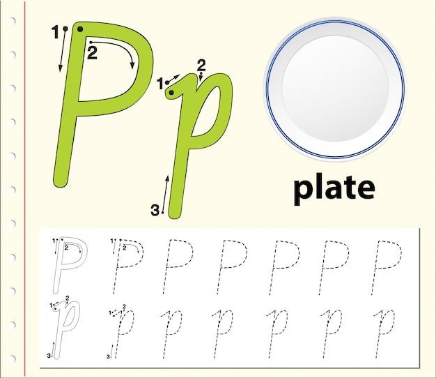 Arkusze alfabetu śledzenia literę b