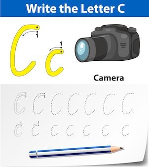Arkusze alfabetu śledzenia litery c