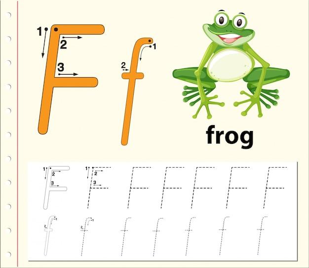 Arkusze alfabetu śledzenia litery f